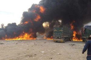 Phát hiện nhiều đoàn xe chở dầu từ đông Syria tới Thổ Nhĩ Kỳ, Iraq