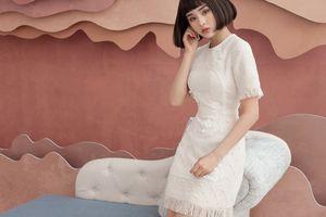 Hiền Hồ gợi ý mặc thanh lịch với váy vải tweed cho mùa thu