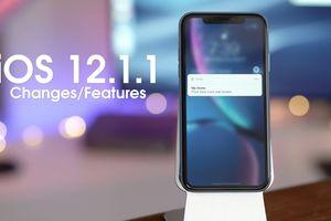 Apple ra mắt bản cập nhật iOS 12.1.1