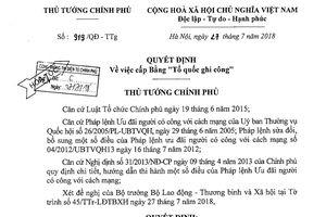 Quảng Nam trả lời về việc phục hồi danh hiệu liệt sĩ