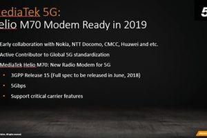 Helio M70: giải pháp 5G cho smartphone tầm trung từ MediaTek