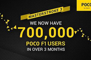 Xiaomi Pocophone F1 cán mốc 700.000 chiếc bán ra trong 3 tháng