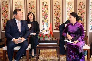 Chủ tịch Quốc hội Nguyễn Thị Kim Ngân tiếp đại diện một số tập đoàn kinh tế Hàn Quốc
