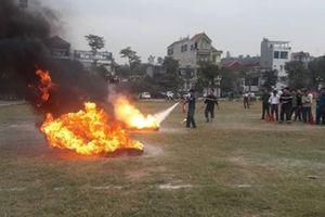Nâng cao kỹ năng chữa cháy cho lực lượng dân phòng