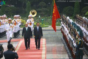 Hình ảnh: Lễ đón Thủ tướng Campuchia Hun Sen thăm chính thức Việt Nam