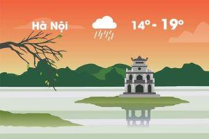 Thời tiết ngày 8/12: Hà Nội mưa rét, thấp nhất 14 độ C