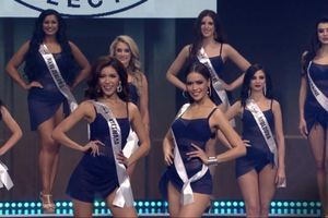 Minh Tú nóng bỏng thi áo tắm tại chung kết Hoa hậu Siêu quốc gia 2018