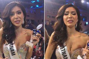 Minh Tú bật khóc xin lỗi khán giả khi dừng ở Top 10 Hoa hậu Siêu quốc gia