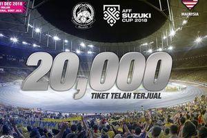 Malaysia bán sạch 20.000 vé online trong 7 phút
