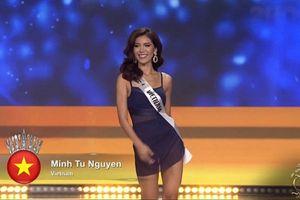 Ngắm vẻ đẹp 'mười phân vẹn mười' của Minh Tú trong đêm chung kết Hoa hậu Siêu quốc gia