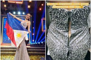 Người đẹp Philippines bị phá hỏng váy trong chung kết 'Hoa hậu Siêu quốc gia 2018'