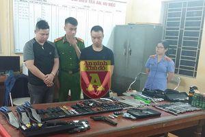 Hà Nội: Triệt phá 'đại lý' bán vũ khí trên mạng xã hội