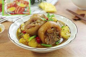 Clip: Cách nấu món chân giò kho dứa 'đưa cơm' cho cả nhà