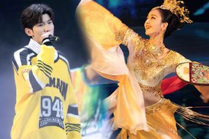 Nhuộm vàng sân khấu Hoa Biểu 2018: Đồng Lệ Á rực rỡ như nữ thần, Vương Nguyên đầy biểu cảm đáng yêu