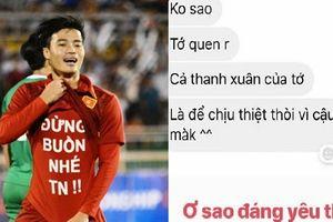 Lộ tin nhắn giữa Văn Toàn và bạn gái xinh đẹp khiến fan 'lụi tim'