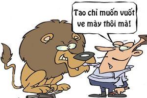 Góc cười: Hậu quả của việc thích vuốt ve động vật