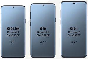Tiết lộ ba kích cỡ màn hình Galaxy S10