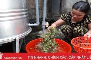 Tỷ lệ thất thoát nước sạch nông thôn Hà Tĩnh còn 24%