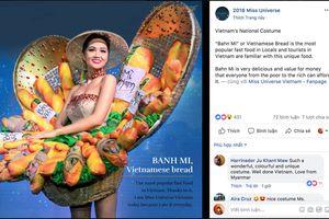 Trước thềm phần thi National Costume, 'Bánh Mì' lọt top 4 thiết kế được chú ý nhưng lại viết sai tên thành 'Bahn Mi'
