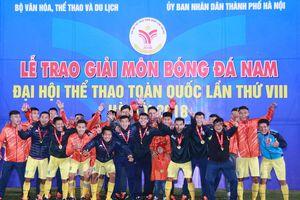 Đại hội thể thao toàn quốc 2018: HCV bóng đá nam thuộc về chủ nhà Hà Nội