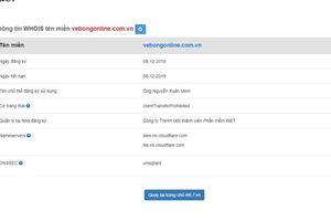 VFF khuyến cáo người hâm mộ về trang web bán vé giả