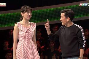 Bức xúc với Trường Giang, Hari Won bỏ về ngay trên sóng truyền hình