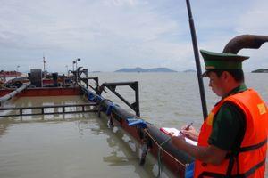 Phạt nặng chủ phương tiện hút cát trên vùng biển Cần Giờ