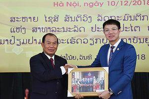 Bộ trưởng Bộ Tư pháp Lào đến thăm và làm việc tại Học viện Tư pháp Việt Nam