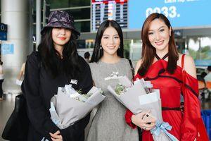 Hoa hậu Trái đất Phương Khánh rạng rỡ ra sân bay đón người tiền nhiệm