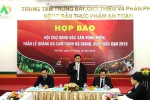 Hội chợ đặc sản cam sành Hà Giang, quýt Bắc Kạn tại Hà Nội