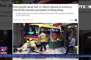 Xe buýt lao vào người đi bộ ở Hong Kong