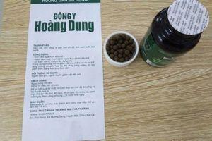 Sản phẩm giảm cân Đông y Hoàng Dung dùng giấy tờ giả, Bộ Y tế khuyến cáo không mua
