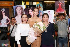 Tiểu Vy trở về sau chặng đường dài tại Hoa hậu Thế giới 2018