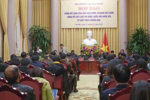 Công bố Lệnh của Chủ tịch nước về 9 Luật vừa được Quốc hội thông qua