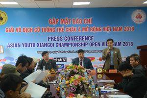 Hơn 100 kỳ thủ tham dự Giải cờ tướng trẻ châu Á mở rộng Việt Nam năm 2018