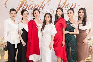 Hoa hậu Tiểu Vy lộng lẫy hội ngộ hội chị em 'bông hậu' sau Miss World