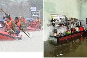 Mưa lũ ở Trung Bộ: Nước ngập tràn bệnh viện và trường học, dân di dời khẩn cấp
