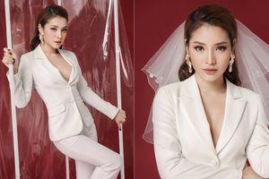 Phương Trinh Jolie hóa cô dâu ngọt ngào với xu hướng vest không nội y