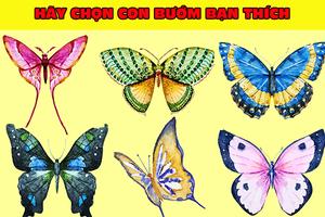 Chú bướm bạn chọn sẽ nói lên tính cách thật đã ẩn giấu bấy lâu trong con người bạn