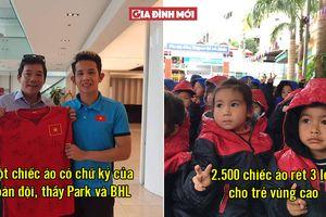 Tuyển Việt Nam tặng áo đấu có chữ ký cả đội để đấu giá từ thiện mua áo rét cho trẻ vùng cao