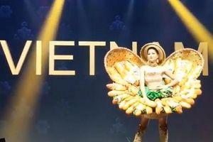 H'Hen Nie tỏa sáng trong phần trình diễn trang phục 'Bánh mì' trên sân khấu Miss Universe 2018