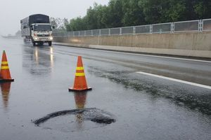 VEC lên tiếng về ổ gà xuất hiện sau mưa lớn trên cao tốc Đà Nẵng - Quảng Ngãi