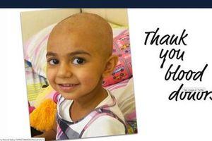 Tìm người hiến máu cực hiếm để cứu bé gái bị ung thư