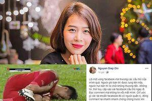 MC Diệp Chi 'nhắn nhủ' fan để cầu thủ nghỉ ngơi-hút hơn 10.000 'share'