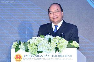 Thủ tướng gợi ý cho Hòa Bình tập trung 4 mũi nhọn kinh tế