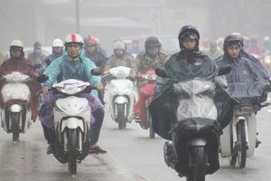 Không khí lạnh tăng cường gây mưa rét cho các tỉnh Bắc Bộ và Trung Bộ
