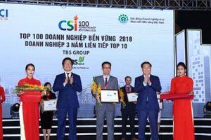 TBS Group 3 năm liên tiếp đạt Top 10 Doanh nghiệp bền vững Việt Nam
