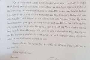 Phó Chủ tịch HĐND tỉnh Đắk Lắk lên tiếng việc không có bằng đại học