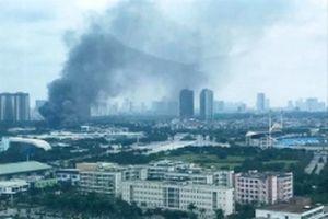 Cháy xưởng sửa xe rộng 500 m2 trên đường Lê Quang Đạo