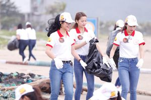 Ngày thiện nguyện của thí sinh dự thi Hoa khôi sinh viên Việt Nam